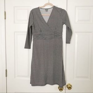 Ann Taylor navy and white dress